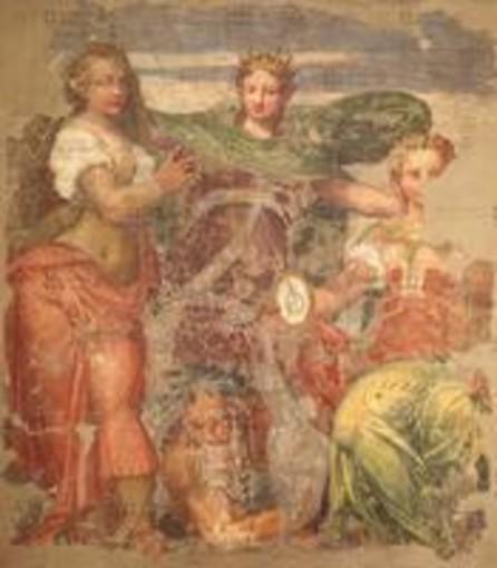 Bernardino India (1528-1590), nel Museo degli Affreschi, a Verona.                                               Determinante la collaborazione fra Inner Wheel, Club di Verona e Musei Civici, per il restauro.
