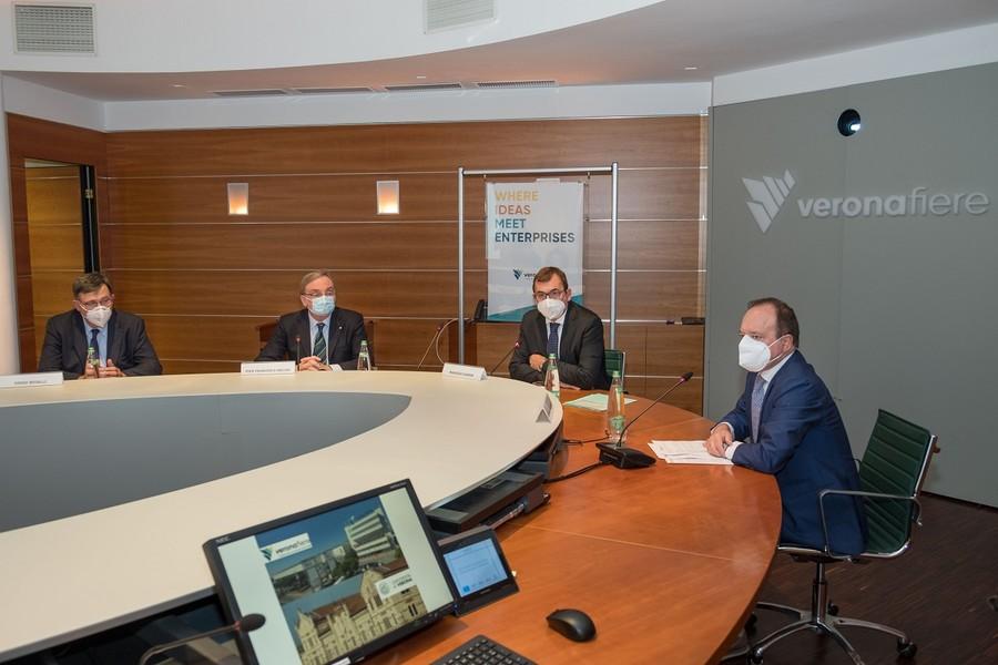 La conferenza stampa di Veronafiere e Università di Verona. Ennevi foto.