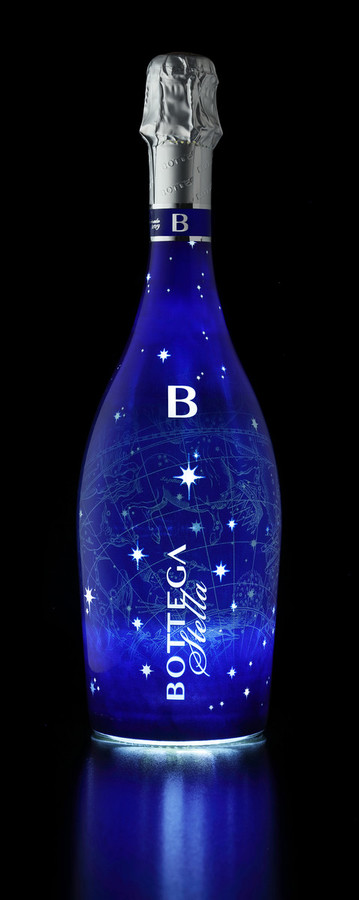 La bottiglia di Bottega che si illumina