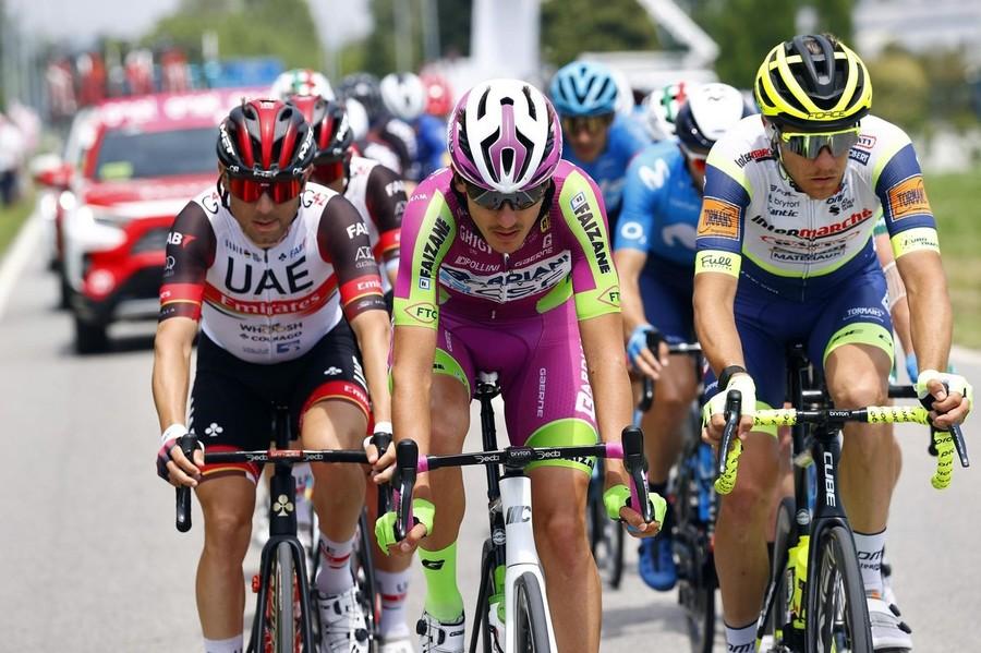 Bardiani CSF Faizanè: 7° posto di Filippo Zana nella diciottesima tappa del giro d'Italia